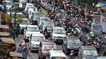Kemacetan di jalan kota Jogja
